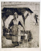 paysanne au puits (peasant woman at the well) by camille pissarro