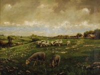 pastoral scene by howard hulsmann