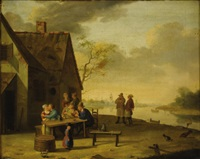outside the tavern by jan hendrik van grootvelt
