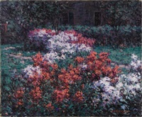 the phlox garden by hugh henry breckenridge