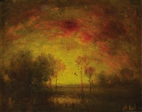 sunset by henry hammond ahl