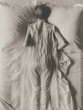 girl in bed by irving penn