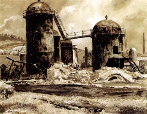 grain silos magazine story illus by peter helck