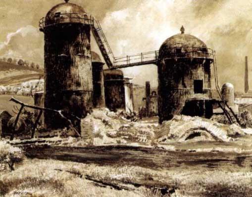 grain silos magazine story illus by peter helck
