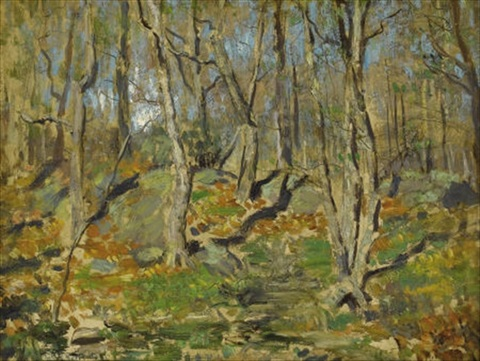 forest landscape by louis paul dessar