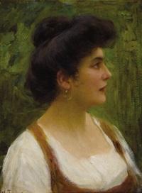 bust of an italian peasant woman by vittorio tessari