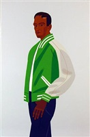 alex in green jacket by alex katz
