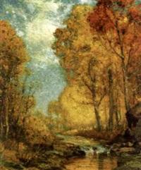 autumn landscape by franklin b. de haven