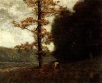 woodland scene by franklin b. de haven
