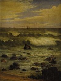 view of the atlantic off the jersey shore by josiah thomas tubby