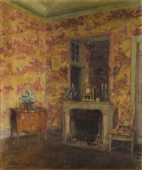 the pink room, le breau by walter gay
