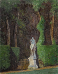 view of the garden by ernest clifford peixotto