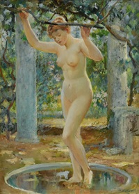 an arcadian nude by will hicock low