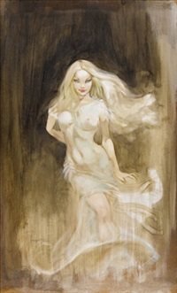 faith (movie concept art for a dracula film) by frank frazetta