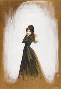 mina murray (movie concept art for a dracula film) by frank frazetta