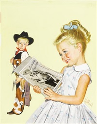 the american weekly, september 12, 1954 (cover illus.) by robert hilbert