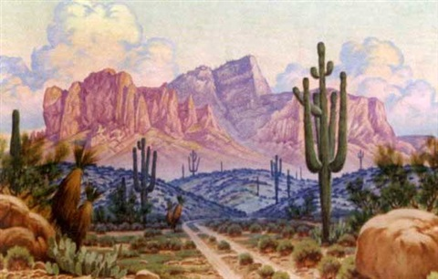 superstition mountains by josé aceves