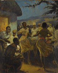 full moon, haitian rhythm by william edouard scott