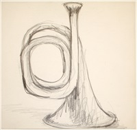 untitled (trumpet) by lee lozano