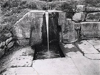 ollantaytambo fountain c. 1930's by martín chambi