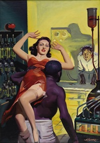 spicy mystery stories (cover illus.) by hugh j. ward