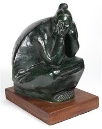 seated woman by francisco zúñiga
