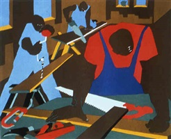 carpenters (print) by jacob lawrence