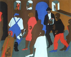 windows (print) by jacob lawrence