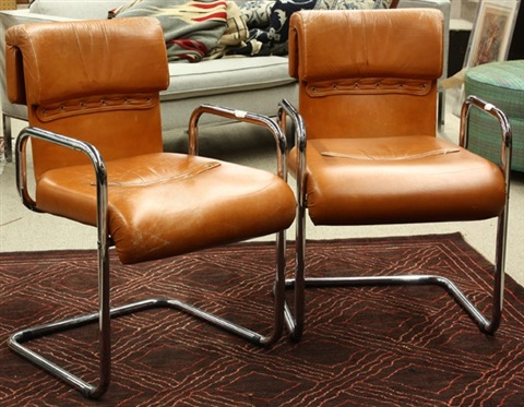 armchairs pair by pace manufacturing co