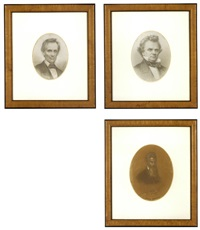portrait of abraham lincoln (+ 2 others; set of 3) by jules emile saintin