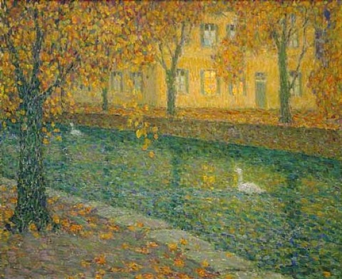 canal a annecy by henri le sidaner