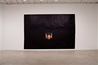 installation view: untitled (black fireplace) by toba khedoori
