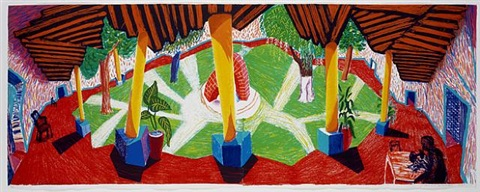 hotel acatlan two weeks later by david hockney
