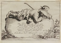pastoralen landschaften (portfolio of 14, after abraham bloemaert) by cornelis bloemaert the younger