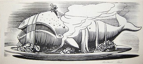 """what further depreciates the whale as a civilized dish…"" by rockwell kent"
