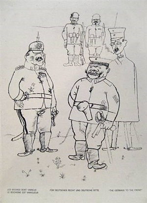 """the germans of the front, from """"gott mit uns"""" by george grosz"""
