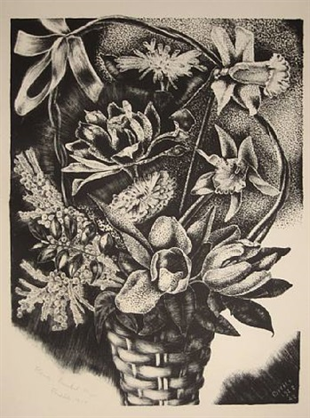 flower basket by george biddle