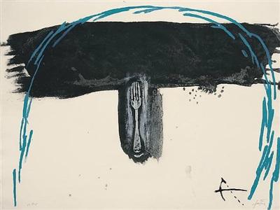 arc blau by antoni tàpies
