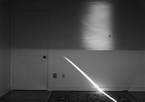 camera obscura image of a sunrise over the atlantic: july 14th, 5:20 am to 7:05 am, rockport, ma, 2006 by abelardo morell