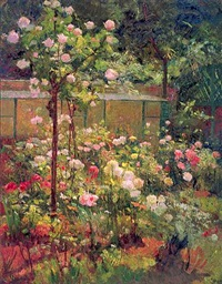 jardin en fleurs by robert william vonnoh