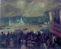 sailing boats - paris by william glackens