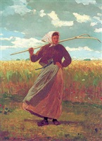 the return of the gleaner by winslow homer