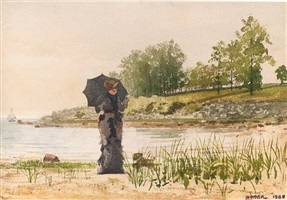 young woman by winslow homer