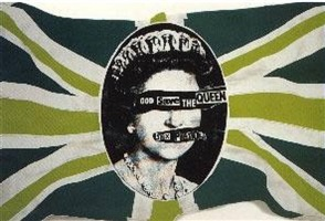 union jack (green white blue) by jamie reid