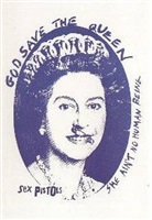 old queen (blue) by jamie reid