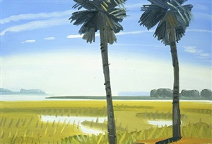 palms at old tabby club, spring island, sc by gregory botts