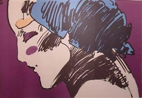 profile of a lady by peter max