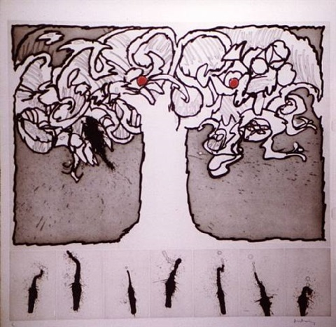 arbre de vie by pierre alechinsky