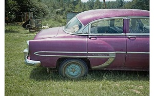 magenta car, havana, alabama by william christenberry