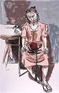 girl with foetus by paula rego